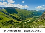 Val Ferret, Aosta Valley (Italy) - August 3, 2019: summer in Val Ferret, one of the East Mont Blanc Massif's valleys, in the middle Dora di Ferret Creek. - stock photo