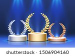 stage podium with lighting ... | Shutterstock .eps vector #1506904160