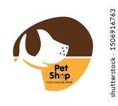 Stock vector pets home vector logo template pet logo pet shop little dog cartoon 1506916763