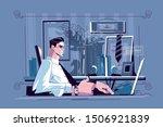 businessman sitting at... | Shutterstock .eps vector #1506921839