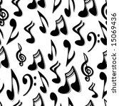 musical notes seamless tile   Shutterstock .eps vector #15069436