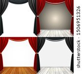 set of empty stage with black... | Shutterstock .eps vector #1506951326