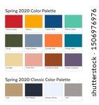 spring   summer 2020 palette... | Shutterstock .eps vector #1506976976