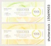 gift certificate  voucher ... | Shutterstock .eps vector #150699053