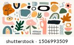 big set of hand drawn various... | Shutterstock .eps vector #1506993509