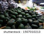 Small Green Pumpkin At Street...