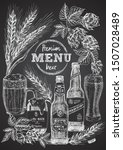 set hand drawn sketch bottle... | Shutterstock .eps vector #1507028489