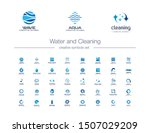 water drops  waves and cleaning ... | Shutterstock .eps vector #1507029209