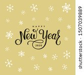 happy new year 2020. lettering... | Shutterstock .eps vector #1507039889