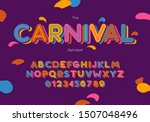 Vector Carnival Font And...