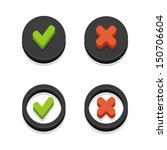 circle black check box with... | Shutterstock .eps vector #150706604