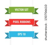 pixel ribbons set 3. vector... | Shutterstock .eps vector #150706610