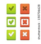 vector check box set with check ... | Shutterstock .eps vector #150706628