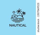 simple modern beach line art... | Shutterstock .eps vector #1507069523