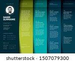 vector dark minimalist cv  ... | Shutterstock .eps vector #1507079300