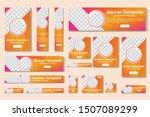 set of vector yellow   orange...   Shutterstock .eps vector #1507089299