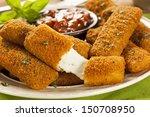 homemade fried mozzarella... | Shutterstock . vector #150708950