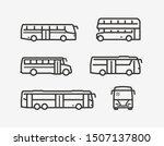 Bus Icon Set. Transport Symbol...