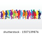 group of people. crowd of... | Shutterstock .eps vector #1507139876
