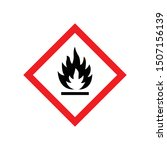 fire warning sign isolated on...