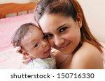 portrait of a hispanic happy... | Shutterstock . vector #150716330