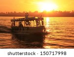 Boat Cruising The Nile River A...