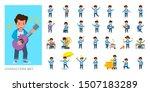 set of kid character vector... | Shutterstock .eps vector #1507183289