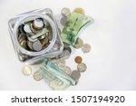 thai coins in a glass bottle...   Shutterstock . vector #1507194920