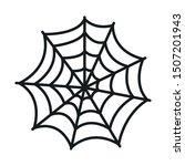 spiderweb halloween line style... | Shutterstock .eps vector #1507201943