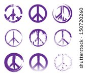 grunge peace signs | Shutterstock .eps vector #150720260
