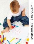 image of cute little boy... | Shutterstock . vector #150720374