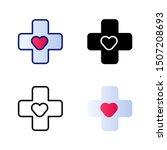 health icon vector symbol... | Shutterstock .eps vector #1507208693
