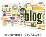 blog and social media concept... | Shutterstock . vector #150721364
