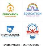 education logo design with... | Shutterstock .eps vector #1507221089