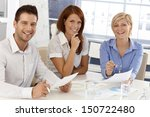 happy businessteam at meeting ... | Shutterstock . vector #150722480
