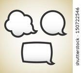 speech bubbles   Shutterstock .eps vector #150722546