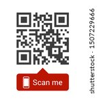 qr code for smartphone....   Shutterstock .eps vector #1507229666