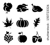Set Of Thanksgivin Icons...