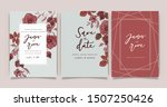 red luxury wedding invitation... | Shutterstock .eps vector #1507250426