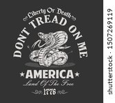 dont tread me, american independence day illustration vector