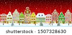 winter night in the old town on ... | Shutterstock .eps vector #1507328630