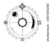 mystical drawing  stylized sun...   Shutterstock .eps vector #1507334240