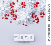 vector 2020 happy new year and... | Shutterstock .eps vector #1507336709
