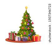 Festive Christmas Tree Flat...