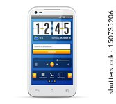 simple ui elements blue yellow. ...