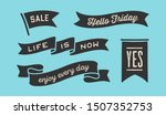 ribbon banner. set of black... | Shutterstock .eps vector #1507352753