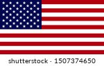 high resolution flag of the... | Shutterstock . vector #1507374650