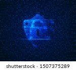 concept of cyber security ... | Shutterstock .eps vector #1507375289
