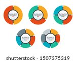 pie chart set. colorful diagram ...