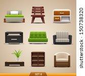 furniture icons set 8 | Shutterstock .eps vector #150738320